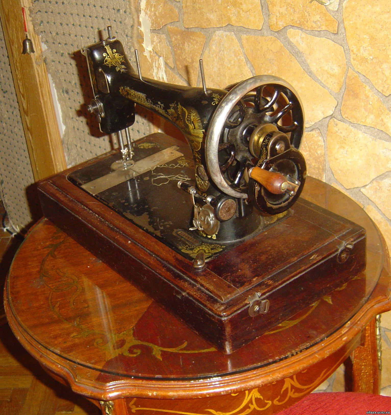 Ремонт старой швейной машинки